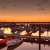 Belmar Marina , Jersey Shore sunset HDR photo